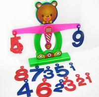 Wholesale Hot selling montessori educational toy Brain balance w weight digital Plastic Math toys Kids Children gift TY159