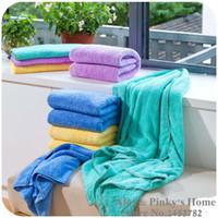 bath suites - 2 Set Adult Bath Towels Soft Absorbent Fiber Towel Wash Washcloth Couples Suite Towel Microfiber