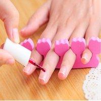 Wholesale 2PCS Toe Separator Soft Nail Tools Polish Dryer Valgus Protector Art Finger Straightener Foot Manicure Pedicure Care