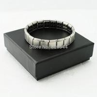 Wholesale Sale Germanium Stones Silver Health Bracelet Power Nano Energy Magnetic Balance Ion Powerful AAA