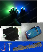 Wholesale Christmas decorations pairs black fabric Modes color changing flashing led glove for Christmas party supplies HSA0812