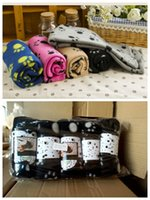 Wholesale Free DHL Cute Pet Dog Cat Blanket Paw Prints Soft Warm Fleece Mat Bed Cover Colors Choose