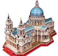 Wholesale Paper Building Blocks children Adults D World Architecture Model Three Dimensional Jigsaw Puzzle St Paul s Cathedral