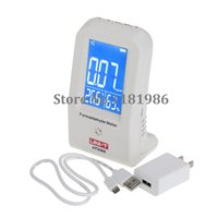 Wholesale Formaldehyde Meter Gas Analyzer w Temperature Tumidity Pollution Degree Alarm Gas Leak Detector Home Car Offices UNI T UT338A