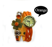 acrylic lucite table - Top Quality Crazy hot sell bracelets table hot blasting in female watches flower leather women bracelet watch ladies retro Bracelet table
