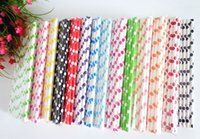 bamboo paper suppliers - straw Bamboo Paper drinking Straws for Christmas Party supplier colors for choose A142