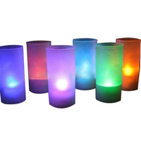 Wholesale Beautiful Design Led Color Change Flickering Flameless Cup Light Tealight Candles Wedding Party Xmas Decoration Christmas Lamp