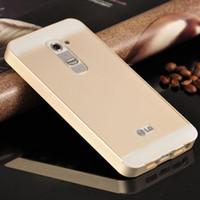 aluminum bezel - New For LG G2 Case luxury Aluminum Bezel PC Back Cover Case Mobile Phone Covers Protective Cases For LG G2 D802