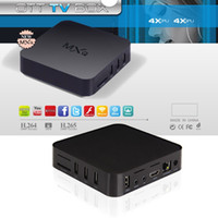 Wholesale MXQ Android tv box Quad Core Amlogic S805 Airplay TV Channels Programs Media Player KODI Rooted online update OTT set top MX boxes