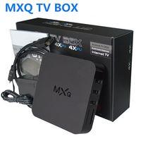 Wholesale 1GB GB MXQ Android TV Box K Amlogic S805 QuadCore XBMC KODI Pre installed Media Player Wifi LAN Miracast Airplay HDMI