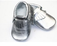 Wholesale New Genuine Cow Leather Baby Moccasins Soft Moccs Baby BOW Shoes girls Newborn Baby first walker Anti slip Infant Shoes Footwear Free Shippi