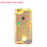 Cheap For Apple iPhone Led Flash Call Case Best Plastic Transparent Led Flash Call Phone case