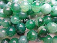 Freeshipping (3 filamentos / set) de 10 mm de ónix ágata verde ronda sueltas cuentas de piedra