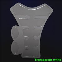 Wholesale Motorcycle Transparent White Carbon Fiber Sticker Resin Tank Pad Protector Ivory Decal For Yama Hon Suzu QJC0239