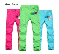 Wholesale The new GSOU SNOW ski pants ms color camouflage snowboarding pants