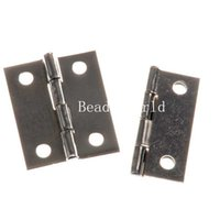 Wholesale 10 Silver Tone Door Butt Hinges Holes rotated from to degrees x29mm W04383 X