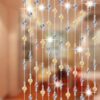 Wholesale Crystal bead curtain partition curtain finished crystal line to hang the sitting room decorates porch blinds