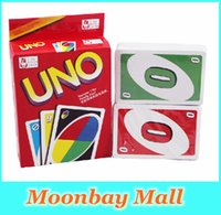 Wholesale Free DHL New UNO Card Game Playing Card Family NO for Family Fun Updated Version
