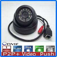 Wholesale Free DHL Infrared LED P IP Camera H Night Vision P2P Motion Detection CCTV Camera Support Android IOS for Home Outdoor Video