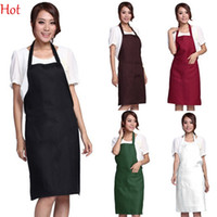 Wholesale 12Pcs Plain Apron Two Pockets for Chefs Butchers Kitchen Cooking Craft UK Baking Home Cleaning Tool Accessories Colors SV014653