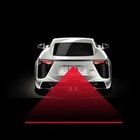 Wholesale Car light Rearing Warning Light Anti Collision Rear end Car Laser Tail Fog Light Auto Brake Parking Lamp Car Styling order lt no track