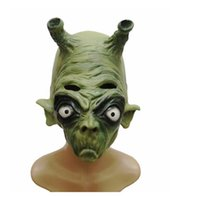 bak free - 2016 Newe Coming BAK Alien Masks Green Color Scary Latex Masks Party Mask for Halloween Decoration