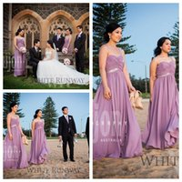 asian summer dresses - 2016 Light Purple Chiffon Long Bridesmaids Dress Asian Top Sale Garden Beach Church Bridesmaid Formal Dress Cheap