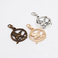Cheap Lobster Clasp Hunger Games Charms Antique Metal Zinc Alloy Key Chains Charm For Jewelry Making 9Pcs lot 25*42mm LC8534