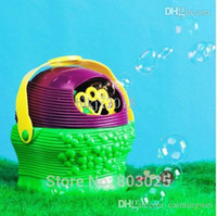 Cheap Wholesale-Free Shipping Basket-Type Electronic Automatic Bubble Machine, Clastic Summer Bubble Toy For Children, Best Kids Gifts