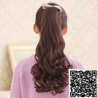 Cheap 2015 Sex Products Aplique De Cabelo Fshow Wig for Ponytail Lady Realistic Long Hair Grew Up In Jaw Type Wave Pear Grip The Tail