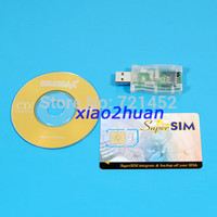 Wholesale NEW HOT USB in1 Sim card Reader Writer Cloner Backup CD