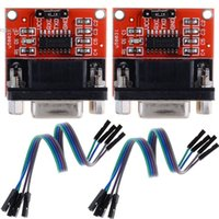 Wholesale High Quality MAX3232 RS232 Serial Port To TTL Converter Module DB9 Connector With Cable b7