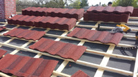 aluminum metal roofing - aluminum zinc green back guangzhou factory colorful stone coated metal roof tiles
