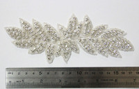 Wholesale Rhinestone Rhinestone Applique for Wedding Gown Bridal Sash Evening WearLSAP0904