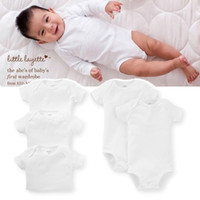 Wholesale Sports Style New Born Baby Boy Girl Clothes Cotton Short Sleeve Romper Months White Clothing For Bebes Product CP2