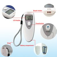 alcohol white - Mini Breathalyzer Breath Alcohol Tester Digital Analyzer Single LCD White