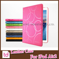 Wholesale For iPad Air2 Kaku Circle Pattern Case Golden Beach Smart Cover Flip PU Leather Folding Folio Case Cover For iPad