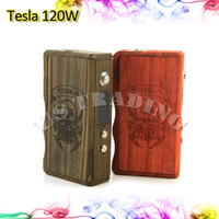 metal box - 2015 Tesla W Box Mod for e Cigarette Vaporizer Mod Original Tesla Metal Wood W Box Variable Valtage Newest Vapor Box for Battery