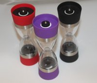 Wholesale 2 in Ceramic Dual Salt and Pepper Mill Well Designed Salt Grinder and Pepper Mill black red purple