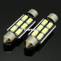 Wholesale 2pcs Festoon Dome light Canbus NO error SMD LED mm Reading License plate light DC V White