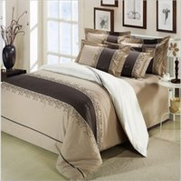 activity quilt - Designer bed Home textile cotton male black and white stripe quilt piece set embroidered bedding activity