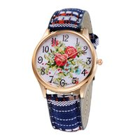 antique chinese prints - Vine Flower Print Wristwatch reloj montre femme relojes Quartz Watches Women Chinese Style Clocks Casual Gold Watch