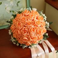 Wholesale City Korean bank holding flowers simulation bride wedding photography props holding flowers bridesmaid wedding bouquet