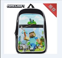 Wholesale 3style Minecraft Backpack Game My World PVC Waterproof Shoulder Children School Bags Boys Mochila Double Shoulder Schoolbag H466