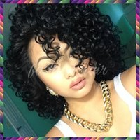 auburn delivery - Virgin Brazilian Human Hair Curly Human Hair Wigs Free Part Curly Wigs for Black Women Fast Delivery