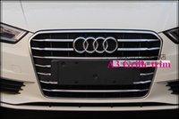 audi front grill - High quality stainless steel car Front grille trim grill streamer total for Audi A3