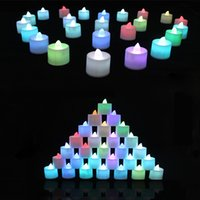 plastic tea cups - 2014 Red Yellow Blue Green tea light Small Wine Cup led tealight Plastic LED Flash Electronic candle light for Home Decorations