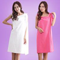 Wholesale 6 Colors Available Soft Wearable Microfiber Magic Bathrobe For Women Beach Spa Towel