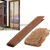 Wholesale ASLT cm Magic Mesh Screen Door Magnetic Anti Mosquito Bug Curtain Coffee order lt no track