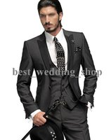 Cheap Reference Images men wedding suits Best Tuxedos Three-piece Suit groom tuxedos